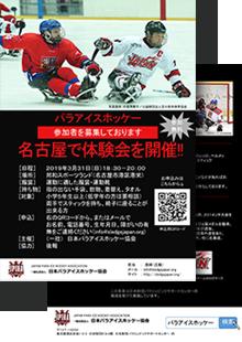 パラアイスホッケー体験会 (名古屋)